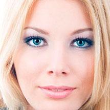 Макияж для голубых и серых глаз блондинок