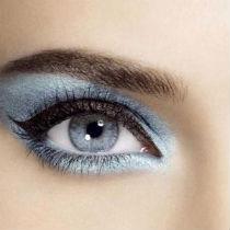 Выбор теней для макияж голубых глаз