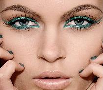 Макияж для серо-голубых глаз - бирюзовый результат