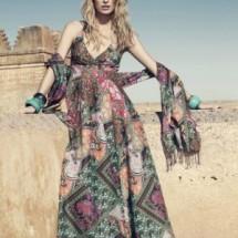 Длинное платье из шифона