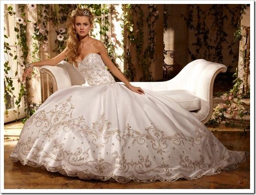 Трактовка цветов свадебных платьев
