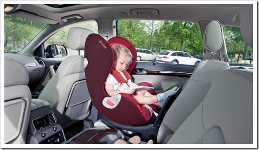 Расположение детского автокресла в салоне авто