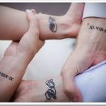 Татуировка на мужчине и женщине