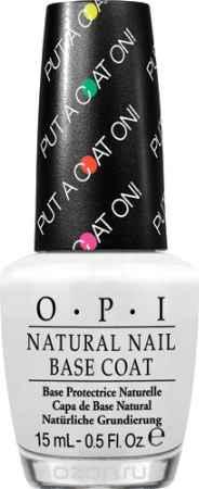 Купить OPIБазовое покрытие для ярких оттенков лака «OPI Natural Nail Base Coat- Put a Coat On!», 15 мл