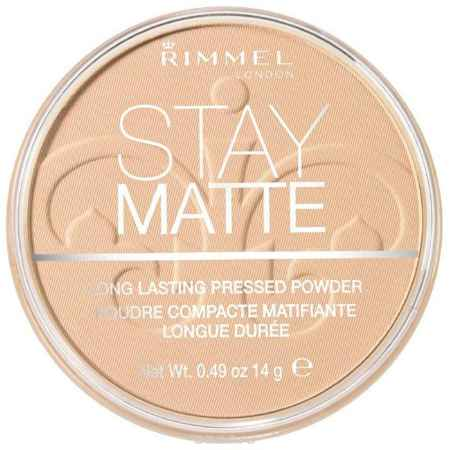 Купить Rimmel Cпресованная Пудра `Stay Matte` Re-pack 003 тон (peach glow), 14 гр