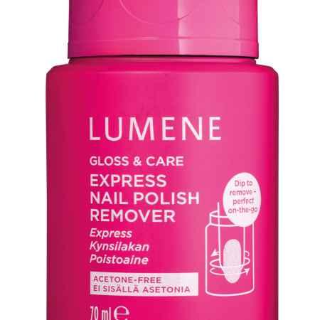 Купить LUMENE Экспресс-средство для снятия лака Gloss & Care, 70 мл