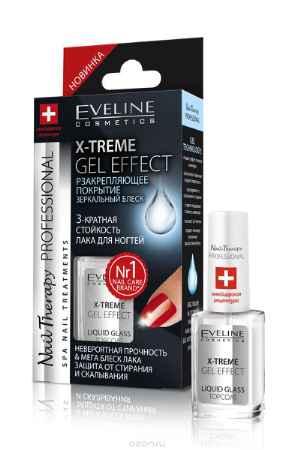 Купить Eveline Nail Therapy Professional X-treme gel effect закрепляющее лаковое покрытие 12мл