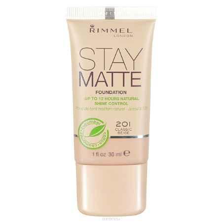 Купить Rimmel Тональный Крем `Stay Matte` Re-pack 201 тон (classic beige), 30 мл