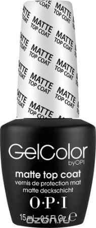 Купить OPI Верхнее покрытие для созданя матового эффекта GelColor, 15 мл