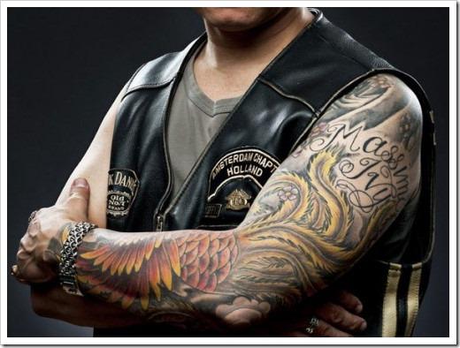 Популярные байкерские татуировки