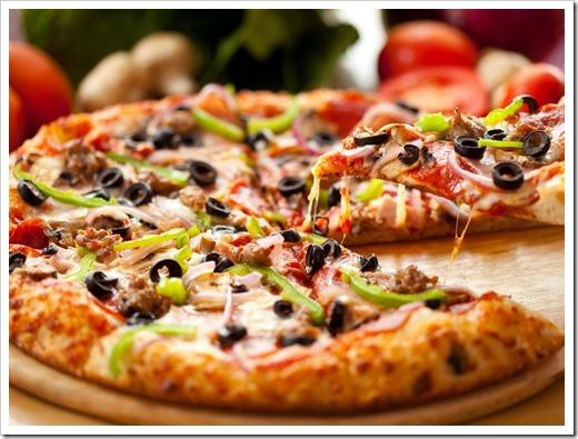 правильно приготовленная пицца