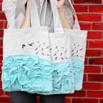 Как украсить холщевую сумку