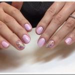 Маникюр гелем на короткие ногти