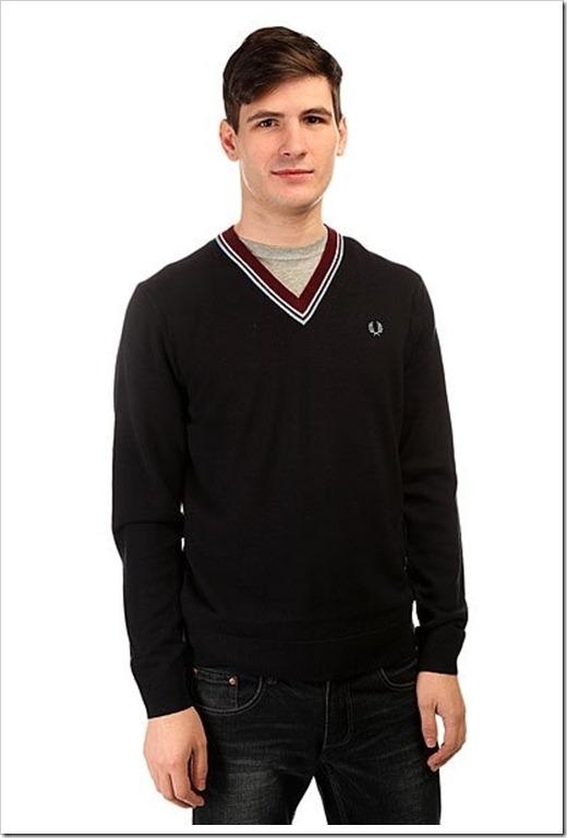 Пуловер Фред Перри из шерсти мериносов